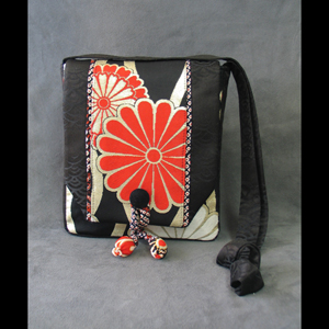 Hand Made Purse from antique Japanese Kimono
